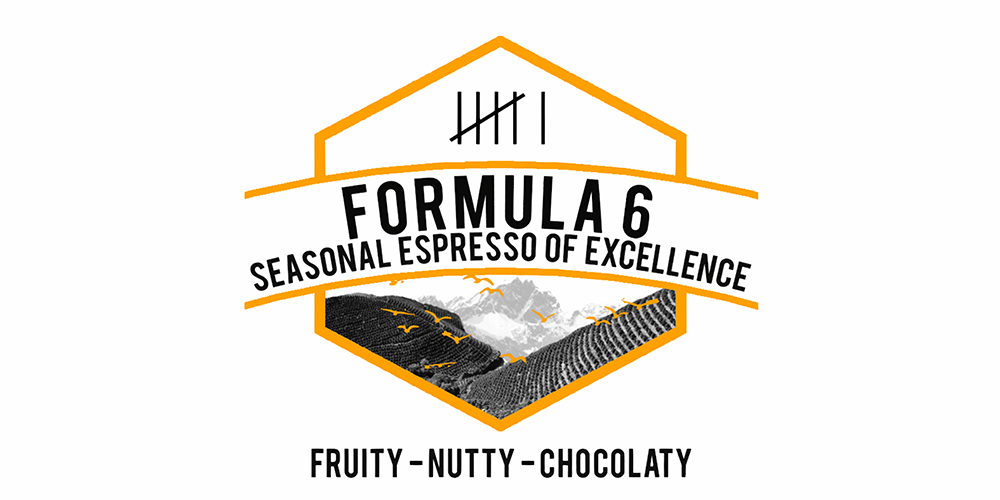 FORMULA 6 Our Long Running House Espresso Coffee Bend.