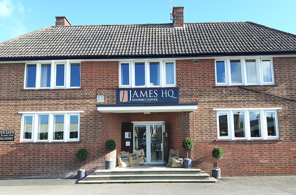 JAMES GOURMET COFFEE HEADQUARTERS IN ROSS ON WYE HEREFORDSHIRE UK