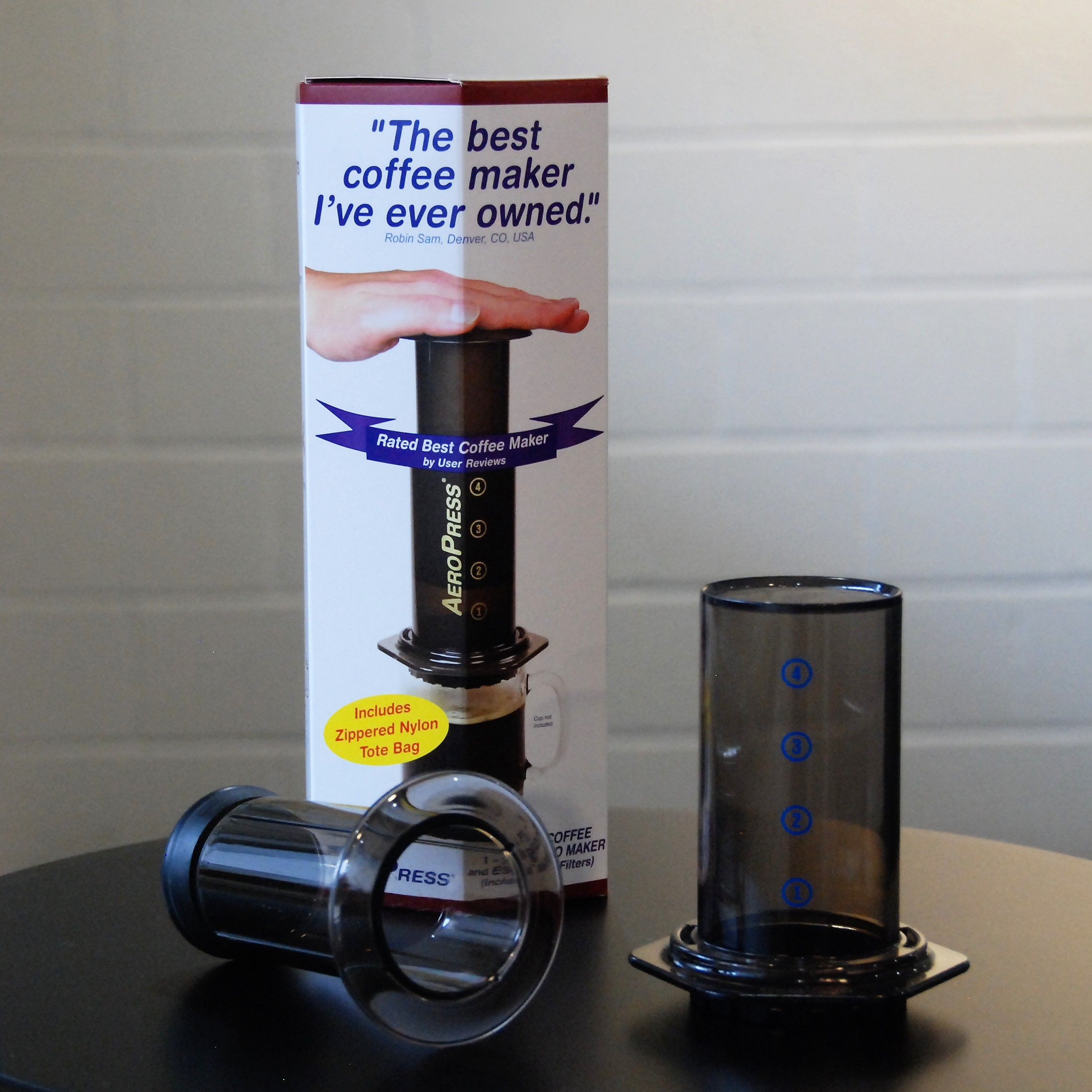 the aeropress coffee brewer