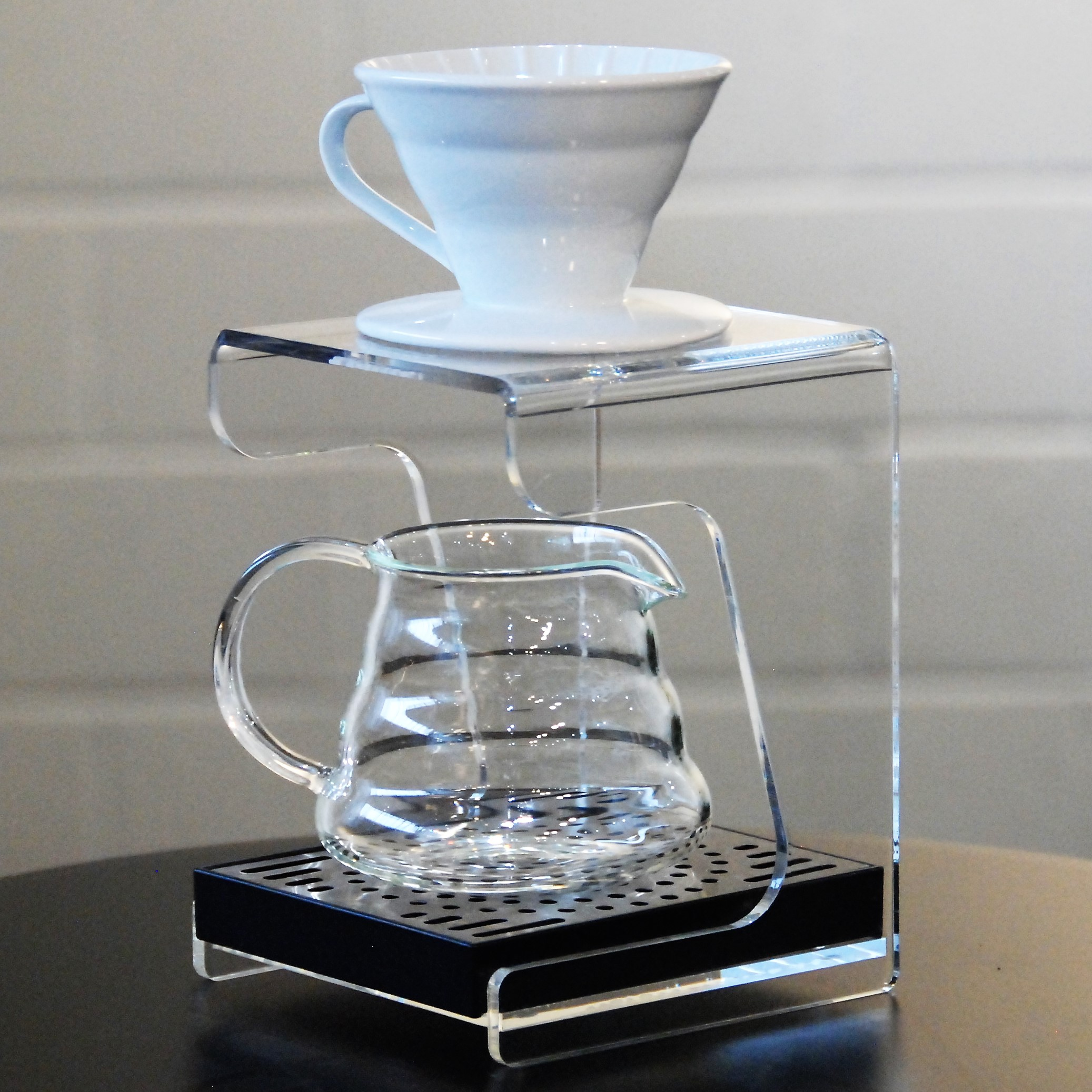 PERSPEX FILTER COFFEE BREW STAND