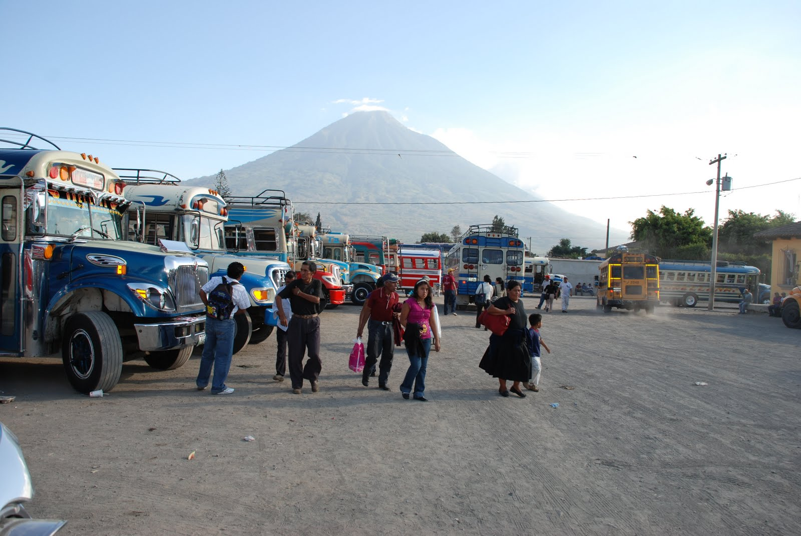 Guatemalan Bus station