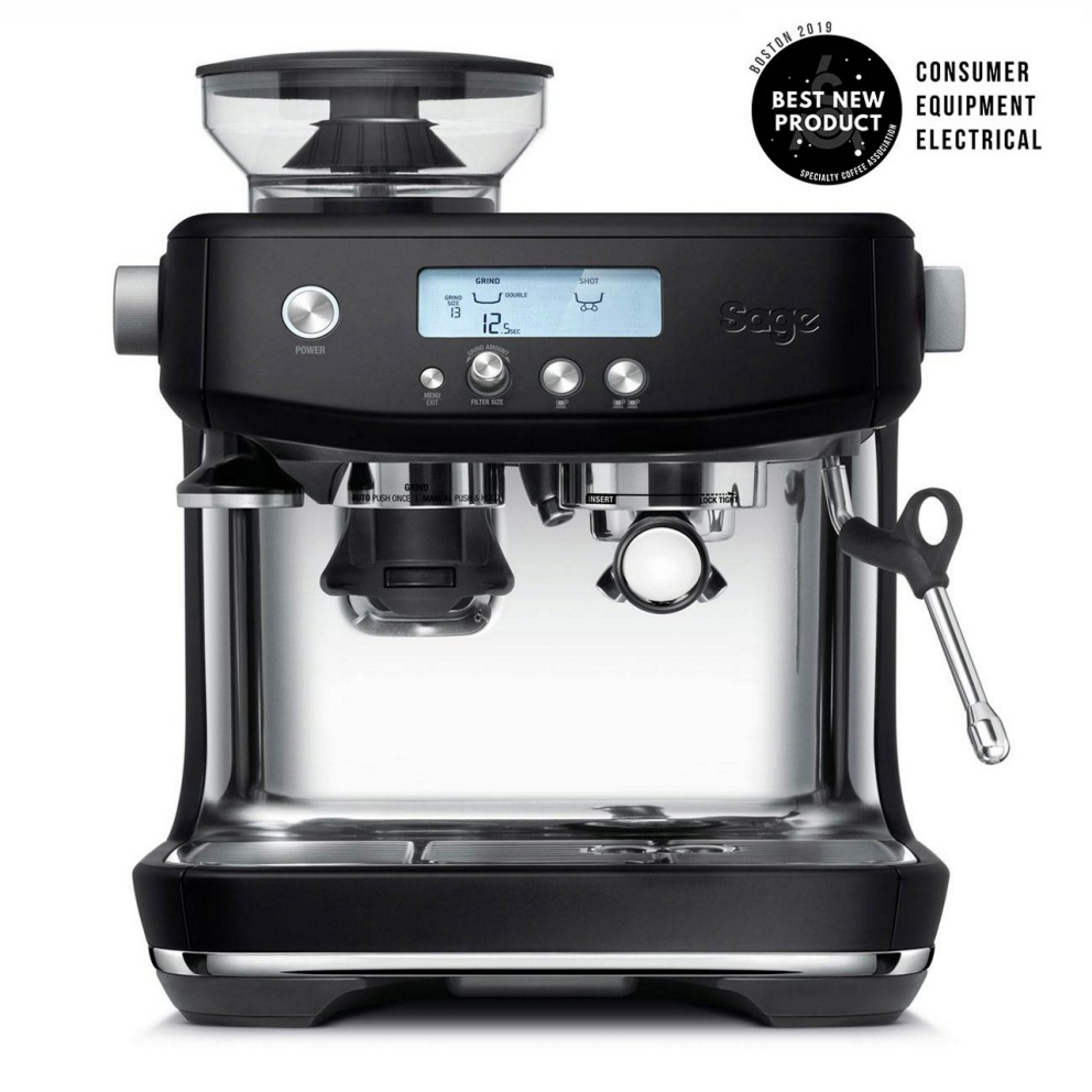 Sage Barista Pro coffee machine in Black Truffle.