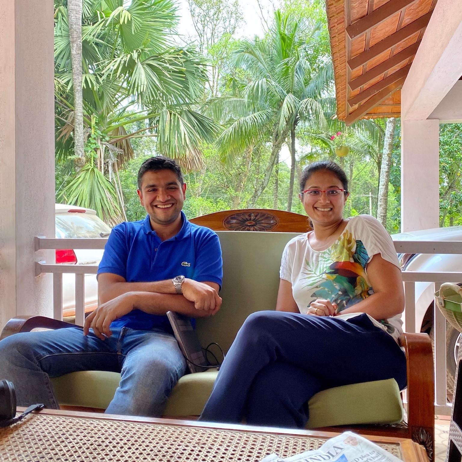 Akshay and Komal at Mooleh Manay.
