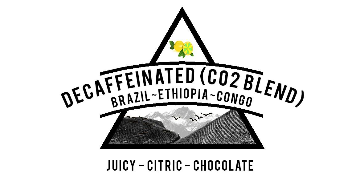 Decaffeinated Brazil, Ethiopia and Congo blend
